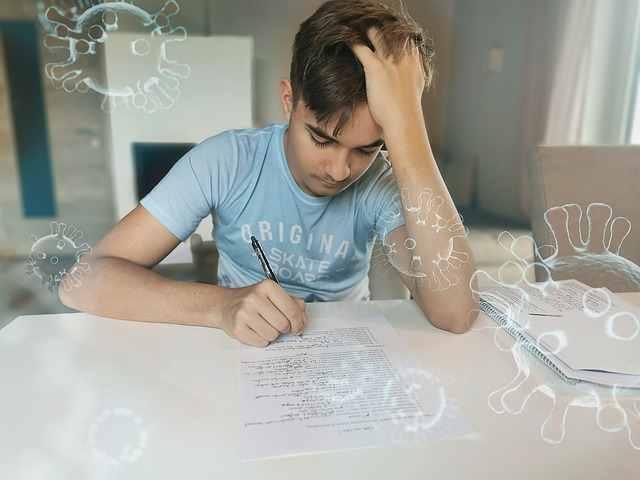 karangan belajar di rumah saat pandemi corona